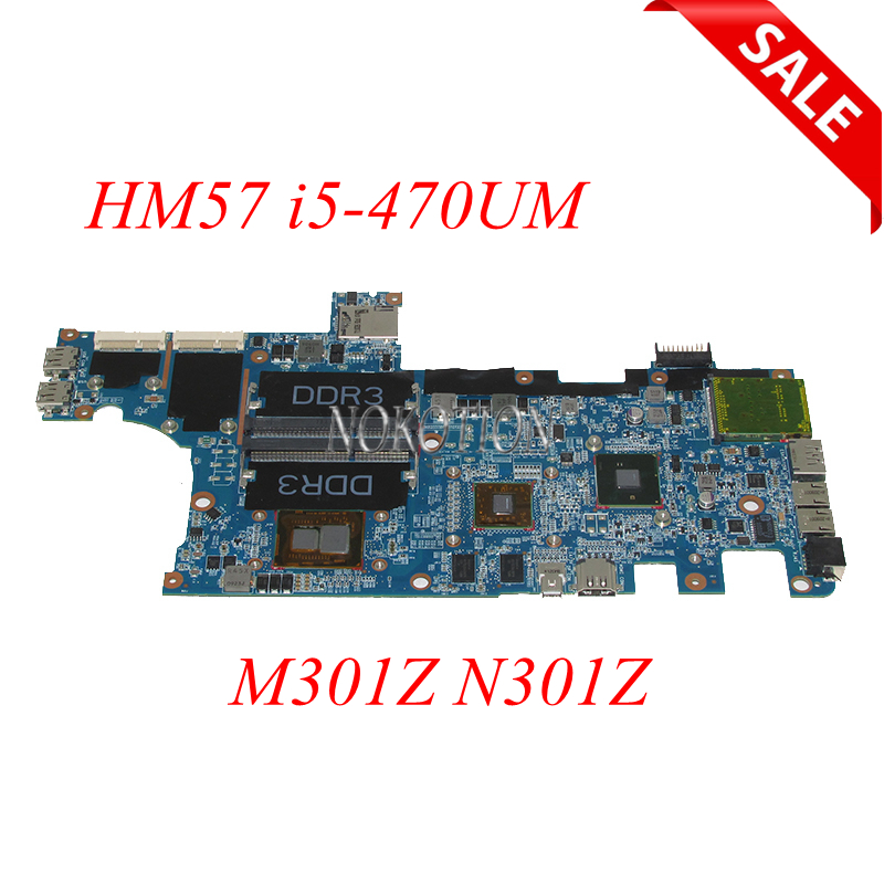 NOKOTION Laptop Motherboard For Dell Inspiron M301Z N301Z CN-072WD6 072WD6 72WD6 HM57 I5-470UM CPU DDR3 HD5430 graphics works nokotion for dell inspiron m301z n301z laptop motherboard cn 0f1x70 0f1x70 hm57 i3 330um cpu ddr3 hd5430 video card