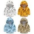 Nueva primavera Otoño buena calidad patrón Pingüino de la rebeca de los Niños ropa niños cremallera de la chaqueta de algodón prendas de vestir exteriores