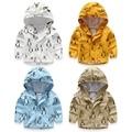 new spring Autumn good quality boys cardigan Children's Penguin pattern clothes kids zipper jacket cotton outerwear