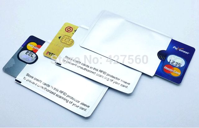 Rfid shielded sleeve card blocking 13 56mhz ic card protection nfc security card prevent unauthorized scanning