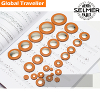 1 Set 25 28pcs Professional Italy Original Selmer Style Sax Pads Saxophone Goat Leather Pads For