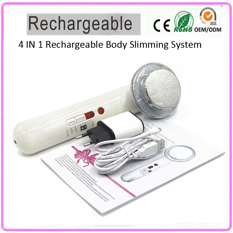 4 IN 1 Rechargeable Home Use Galvanic Ultrasonic Photon Rejuvenation Fat Burn Cellulite Removal Body Beauty Slimming Machine цена