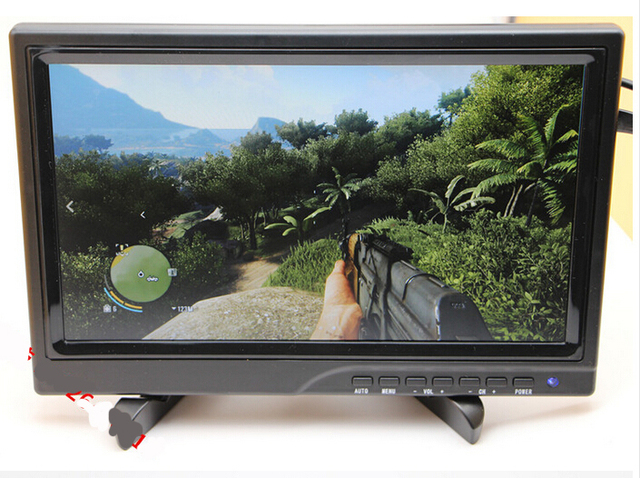 10.1 polegada display exposição portátil HDMI para PS3 xbox360 PS4WiiU torta de Framboesa 1080 p DHL/EMS frete grátis