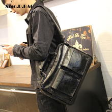 Superior Quality PU Leather Multi-pocketed Chic Men Briefcase Handbags Busines bag Laptop Bag Single shoulder Crossbody