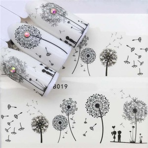 30 дизайнерские наклейки для ногтей на ногти с бантом Одуванчик цветы наклейки для ногтей искусство Декор ногтей переводные наклейки для но...