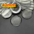 20pcs 40mm clear domed magnifying round glass cabochons,photo jewelry pendant inserts glass