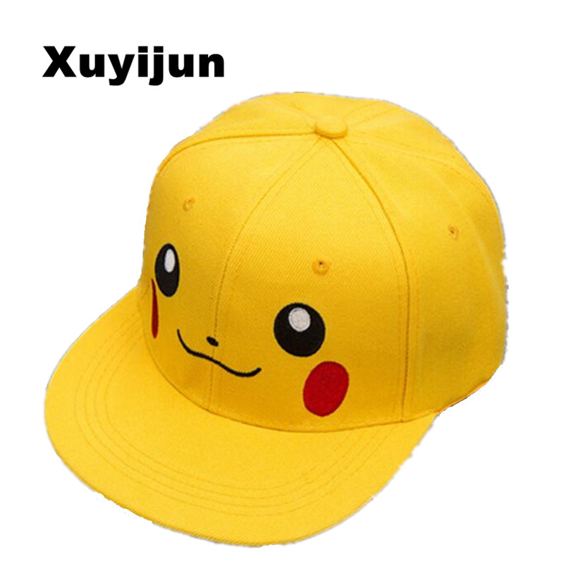 Xuyijun Anime Pokemon Pikachu Cosplay Baseball Caps Adults and children Hip Hop Hat Kids Biboo Swag Snapback Parent-child cap