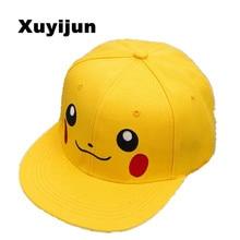 Xuyijun Anime Pokemon Pikachu Cosplay Baseball Caps Adults and children Hip Hop Hat Kids Biboo Swag Snapback Parent-child cap
