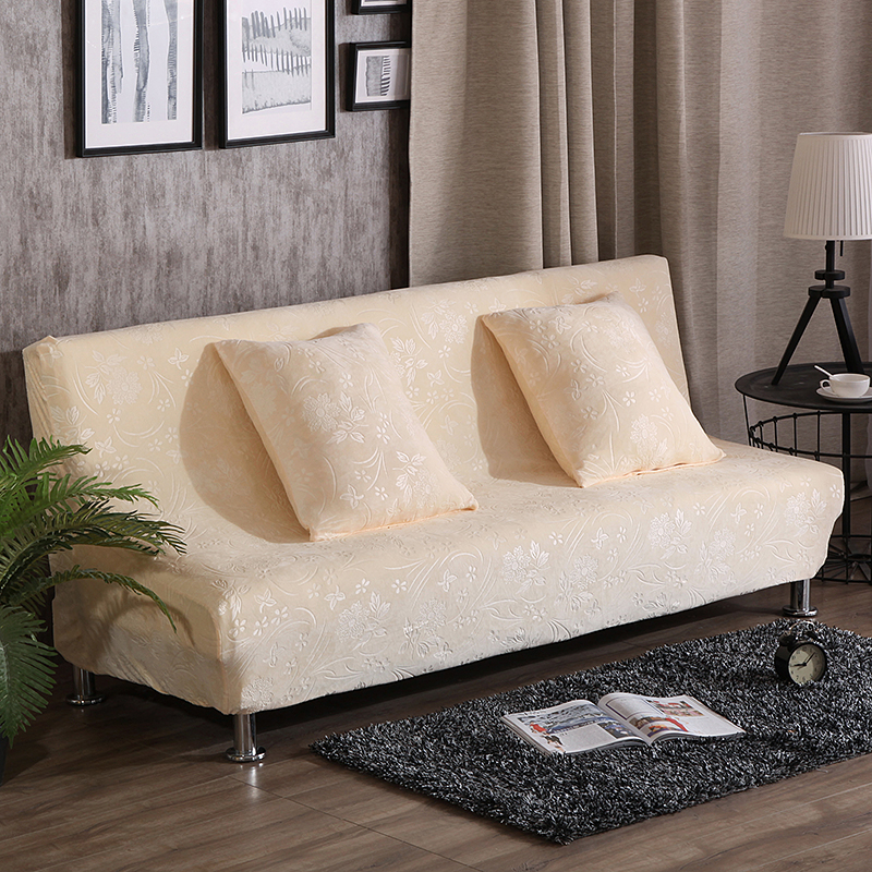 Armless Solid Color Couch Sofa Covers Home Decoration Sofa