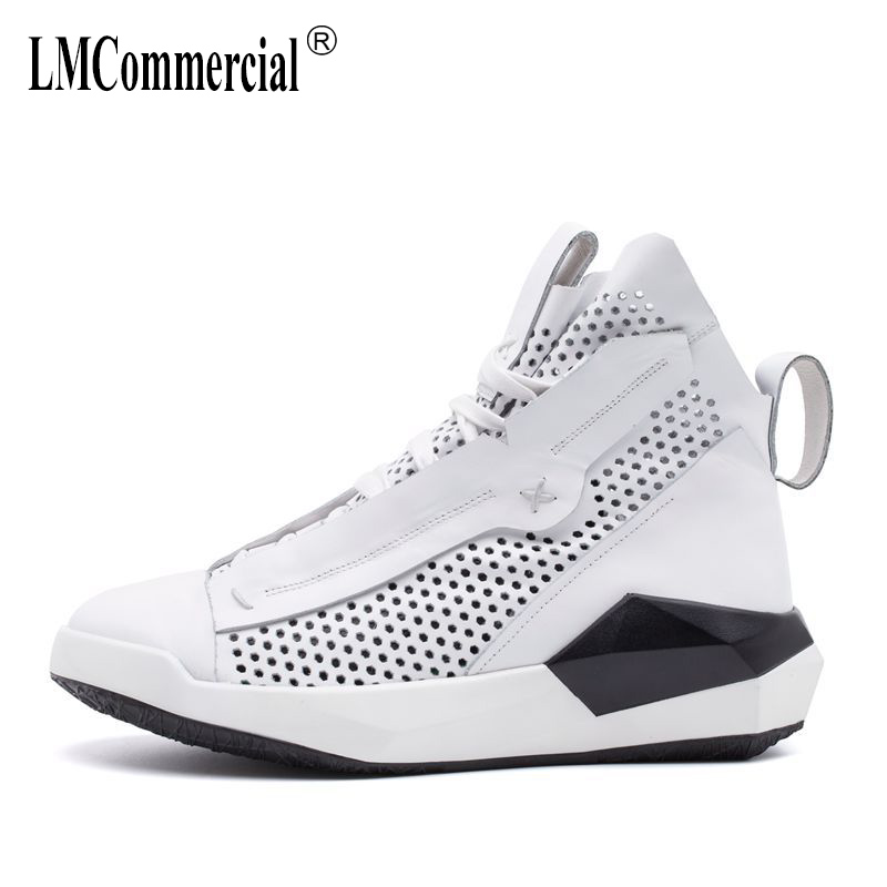 Men's sandals in summer 2018 new outdoor leisure shoes men British retro all-match cowhide high sandals Genuine Leather casual