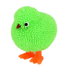 1pc perfect 6CM Novelty Flashing Puffer Cute Chickens Squidgy Sensory Toy Activity and Play Ball  7.9