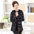 Плюс размер 5XL балахон Граффити печати толстые женщины зимняя куртка 2017 повседневная с длинным рукавом дамы черные куртки женский пальто