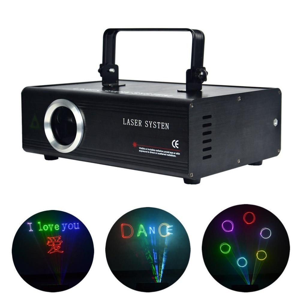 AUCD 1W SD Card ILDA 24CH DMX Kaleidoscope RGB Laser Animation Projector Stage Lighting PRO DJ Show Scanner Lights DA-F1000 aucd fulcolor animation 12ch dmx512 ilda