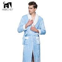 Men's Bathrobe 2017 Mens kimono robe men Winter Autumn thick flannel women's homewear male sleepwear lounges sleeping pajamas