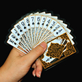 Golden Waterproof transparent crystal plastic cards poker gold creative collection Poker cards Deck