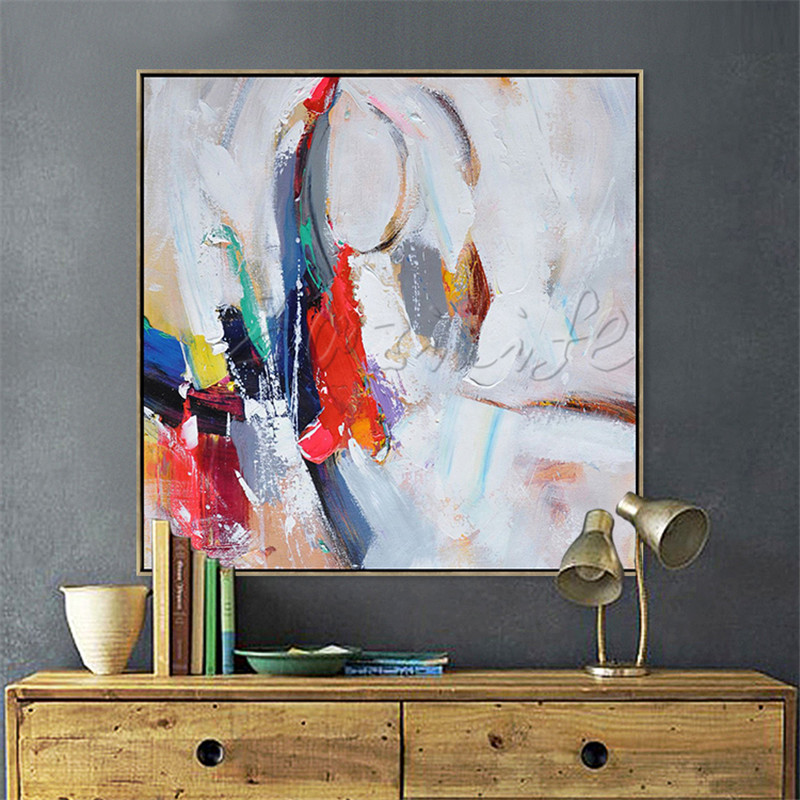 Hand painted canvas oil paintings Cheap large modern ...