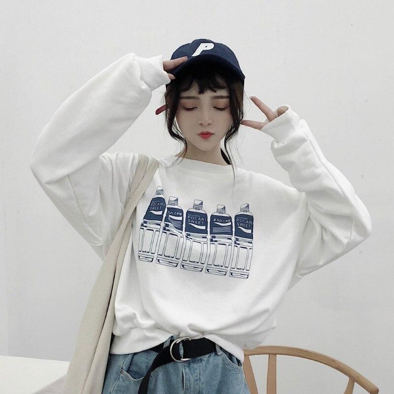 2018 Casual Lose Bf Sweatshirt Frauen Sweatshirts Japanischen Harajuku Ulzzang Weiblichen Koreanischen Kawaii Nette Punk Kleidung Für Frauen