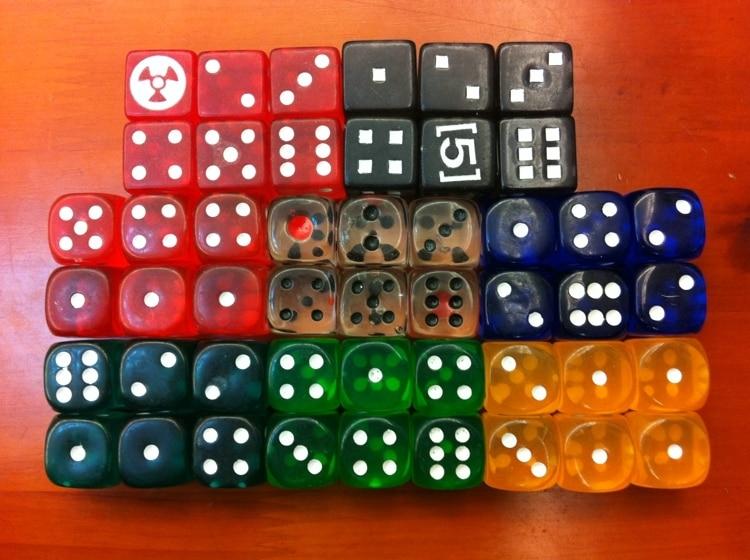 19 χιλιοστά διαφανή πολύχρωμα ζάρια 19 αξεσουάρ παιχνιδιών κρυστάλλων μποζόνια εξαιρετικό δώρο