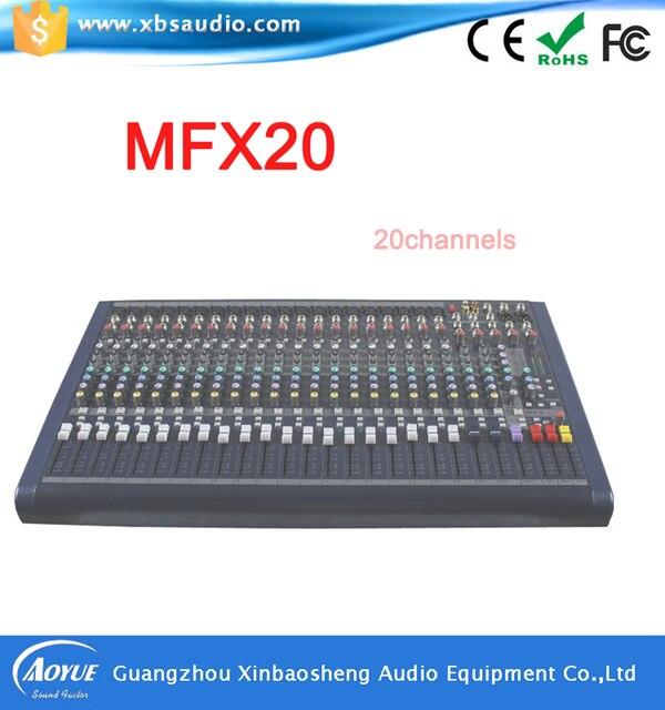 Профессиональное Аудио Смеситель MFX20 20 каналов вход, высокое качество Аудио Микширования