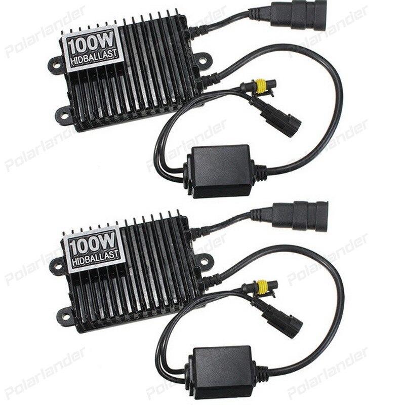 Kit HID 12V 100W 2pcs Light-Bulbs Ballast Blocks Replacement Car-Conversion Xenon Slim