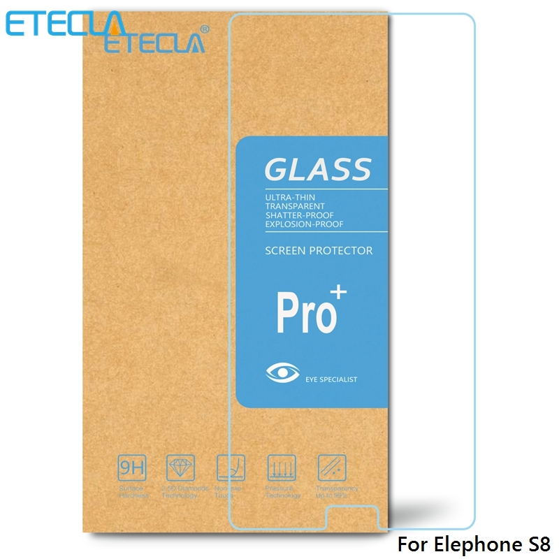 3PCS Elephone S8 Tempered Glass Elephone S8 Glass Elephone S8 Screen Protector Film S 8 Case 0.26mm HD 2.5D Clear Glass