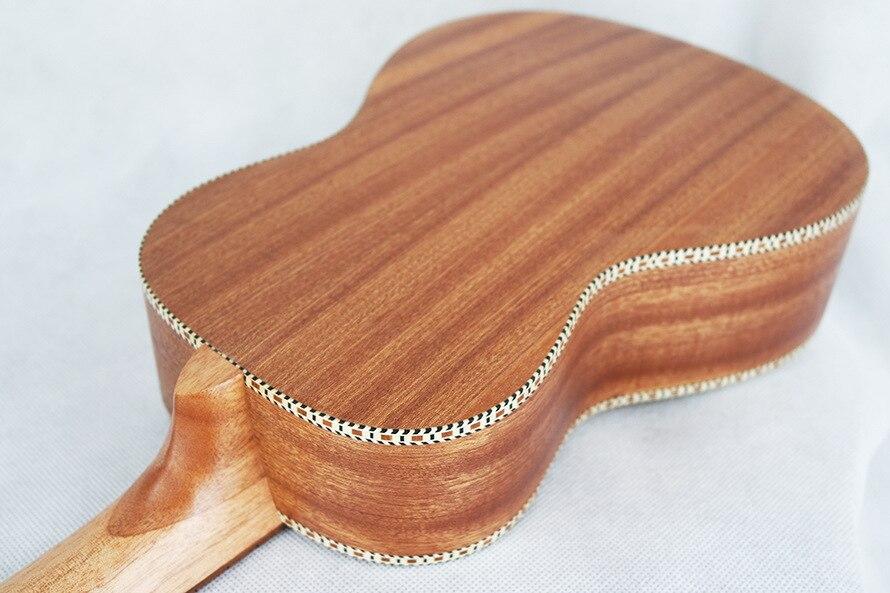 SevenAngel Concert ukulélé acoustique 23 pouces épicéa hawaïen guitare électrique Ukelele papillon amour fleur motif avec ramassage EQ - 4