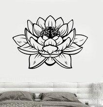 Free Shipping Lotus Flower Buddhia Yoga Studio Meditate Decor Wall Sticker Vinyl Decal CW-9 ve j6k cw page 9