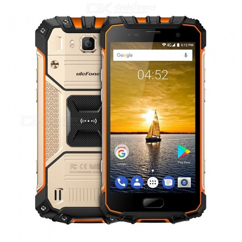 Ulefone Броня 2 Android 7,0 Водонепроницаемый IP68 MTK Helio P25 Глобальный Версия прочный 4G телефон w/6 GB Оперативная память 64 Гб ROM EU plug