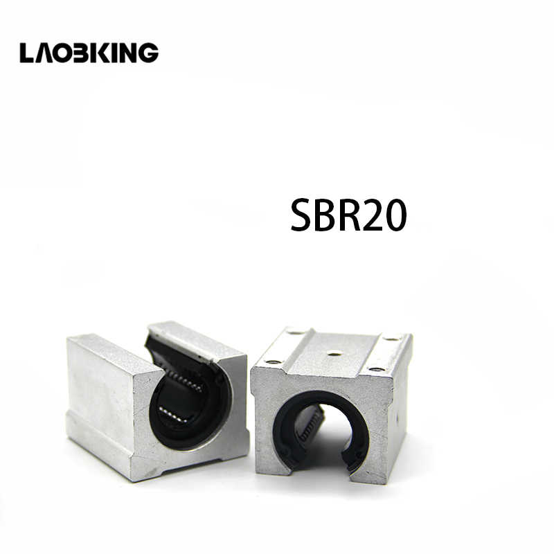 4 pcs SBR20UU SBR20 Linear Bearing 20mm Open Linear Ball Bearing Slide Block SBRuu SBR U 20mm CNC Parts Linear Guide Rail Slide