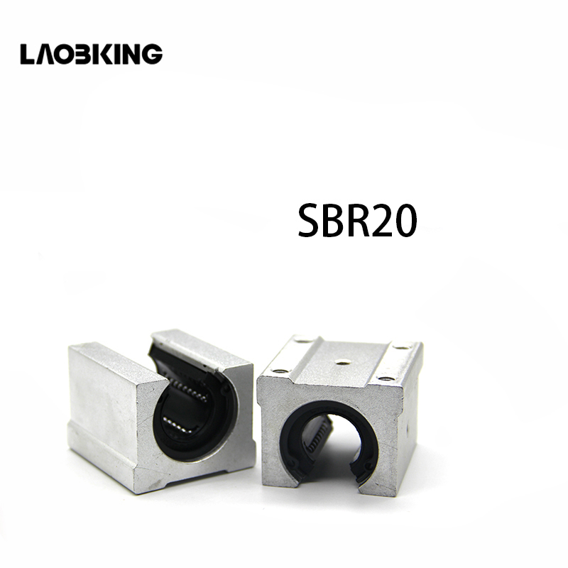 4 pcs SBR20UU SBR20 Linear Bearing 20mm Open Linear Ball Bearing Slide Block SBRuu SBR U 20mm CNC Parts Linear Guide Rail Slide 4pcs lot sbr20uu sbr20 20mm linear ball bearing block cnc router cnc parts and machine aluminum block linear guide rail