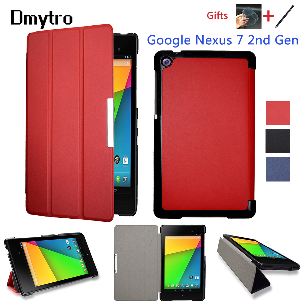 PU Leather Folding Folio Case For  Google Nexus 7 FHD 2nd (2nd Gen.2013) Flip Tablet Cover Case With Stand Auto Sleep/Wake