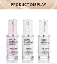 40ML zmiana koloru podkład w płynie kontrola oleju korektor krem 3 kolory nawilżający długotrwały makijaż fundacja krem TSLM1