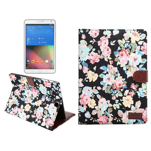 For Samsung Galaxy Tab S2 9.7 SM-T810 SM-T815 flower printed cloth Cover Cases Flip Smart Stand Cover for Samsung Tablet Fundas luxury pu leather cover case for samsung galaxy tab s2 9 7 t810 t815 sm t810 flip stand for samsung galaxy s2 t815 cases kf469a