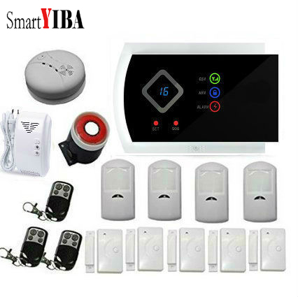 SmartYIBA Anti thief Home Security Gsm SMS font b Alarm b font System 99 Wireless Zones