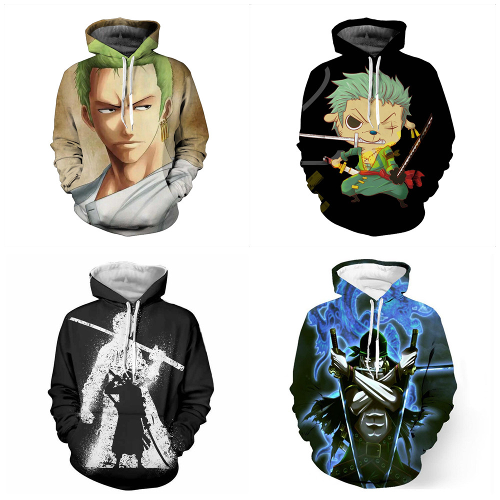 ONE PIEC Roronoa Zoro Hoodie Sweatshirt Cosplay Hot Sale 3D Kpop Hoodies Women Kawaii Harajuku Autumn Casual Long sleeve Jacke