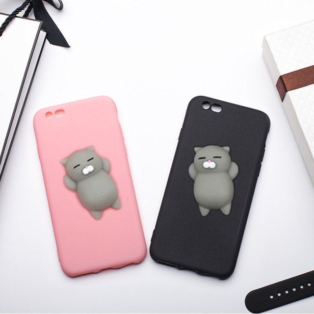 coque iphone 6 chat silicone stress