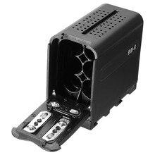 Корпус Аккумулятор BB-6 6 шт. AA Батареи Питания Работают как NP-F970 для СВЕТОДИОДНЫЕ Лампы Видео Панели Для Мониторов YN300 II DV-160V Камеры