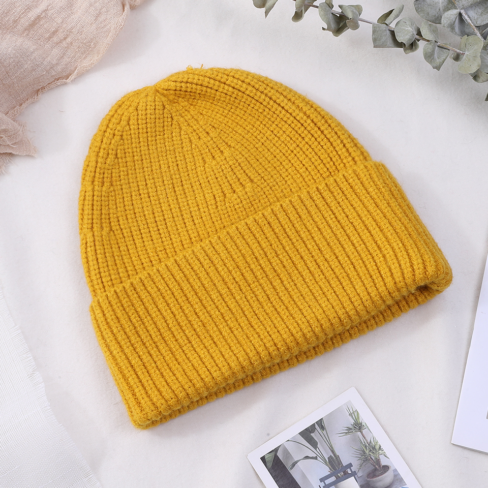 2018 Women's Winter Knitted Skullies Beanies Female Hats Solid Warm Crochet Slouchy Ladies Beanie Hat Cap For Men Boys Girls