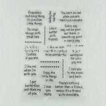1 шт. силиконовые прозрачные карты Слово Скрапбукинг Ремесло резиновые DIY штампы ZXY9721
