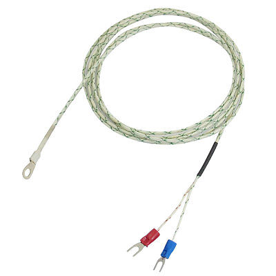 800 Celsius 9mm x 5mm Probe Ring 6.6Ft K Type Thermocouple Temperature Sensor k type thermocouple probe temperature sensor silver 2 meters