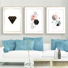 Modern Abstract Geometric Graphic Colorful Decorative Poster Wall Art Canvas Painting Home Picture Decor