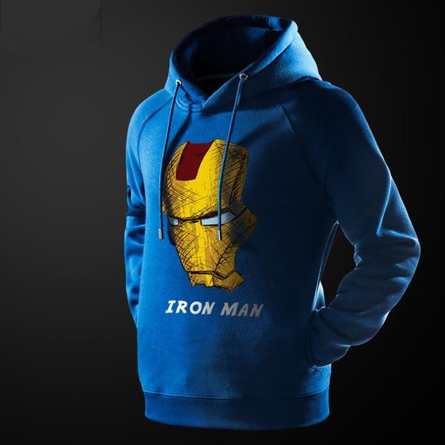 US $50.14 15% OFF|Cool Iron Man Hoodie Black 3XL 4XL Men's Hoodie Avengers Superhero Ironman Hooded Sweatshirt For Male in Hoodies & Sweatshirts from