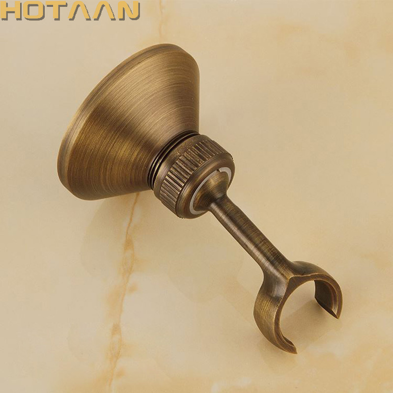 Solid Brass Made Antique Brass Wall Mounted Hand Shower Holder Hook Pedestal Bracket In Wall Shower Accessories Bathroom Fitting