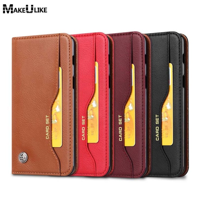 promo code 7374a 36ba7 US $7.46 17% OFF|MAKEULIKE Wallet Case For Samsung Galaxy A6 Plus Flip  Cover 4 Card Slot PU Leather Phone Bag Cases For Samsung A6 A6Plus Pouch  -in ...