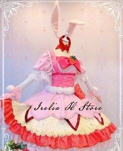 KiraKira Pretty Cure A La Аниме Косплей Cure Whip Usami Ichika Косплей Костюм розовое милое платье Высокое качество платье на заказ