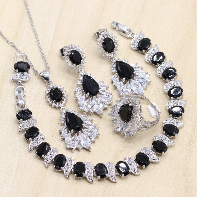 Black Zircon 925 Silver...