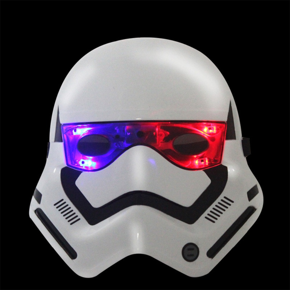 2 Colores Negro Blanco Máscara de Star Wars Casco Fresco Darth Vader - Para fiestas y celebraciones - foto 1