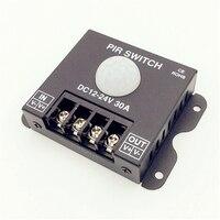 1PCS LOT Led PIR Controller DC 12V 24V 30a Body Infrared PIR Motion Sensor Switch For