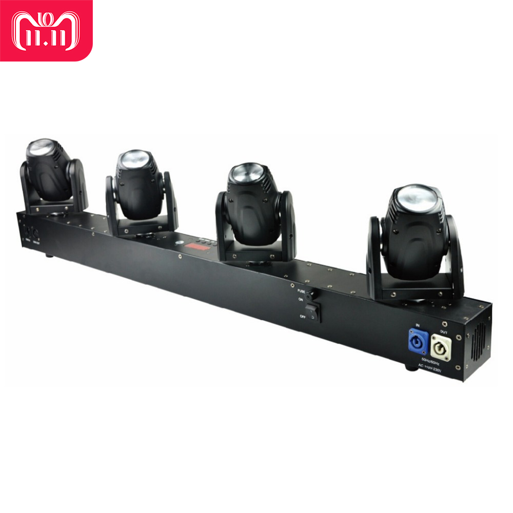 Free Shipping 4 Heads 60W Led Mini Beam Moving Head Light Professional Stage DJ Lighting DMX Controller Disco Projector Lasers