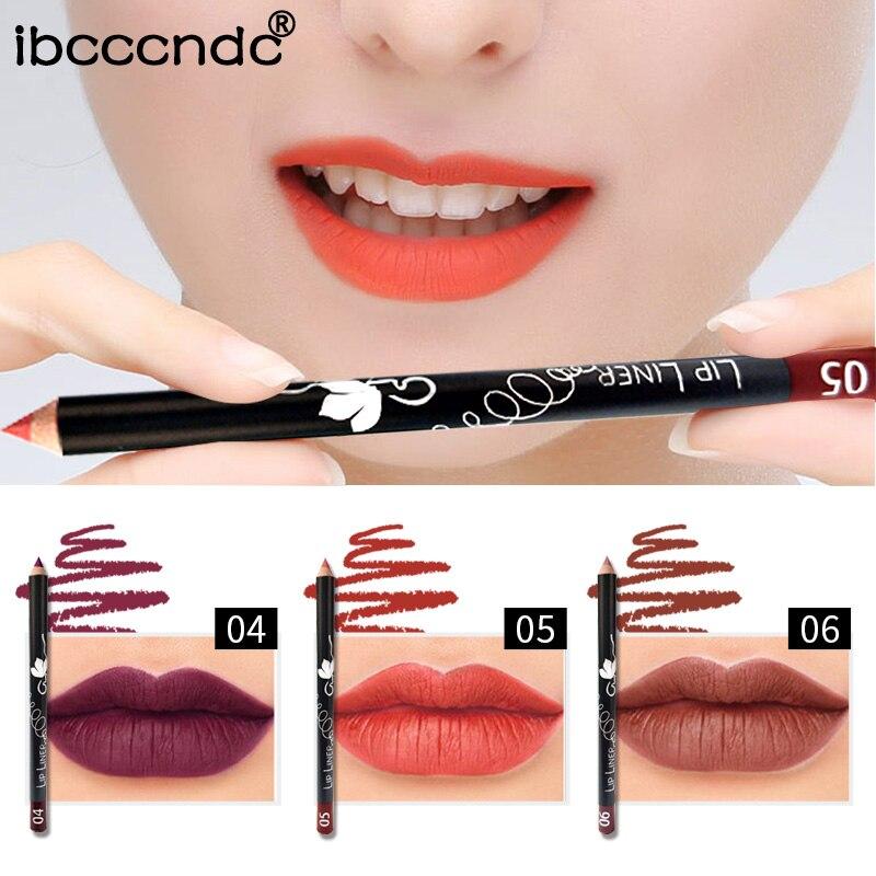 Beauty & Health Delicious Ibcccndc Matte Nude Lip Makeup Lip Liner Pencil Waterproof Long Lasting Dark Red Purple Soft Wooden Lipliner Tattoo Pen Ib003 To Prevent And Cure Diseases